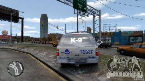 Chevrolet Suburban 2006 Police K9 UNIT для GTA 4 вид справа