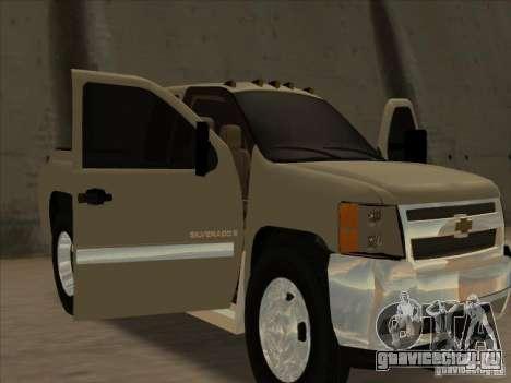 Chevrolet Silverado 3500 для GTA San Andreas вид сзади