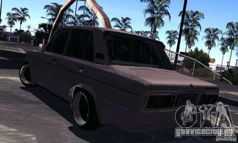 ВАЗ 2106 Turbo для GTA San Andreas вид сзади слева