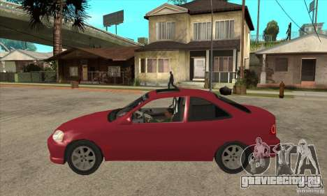 Honda Civic Tuning Tunable для GTA San Andreas вид сзади слева