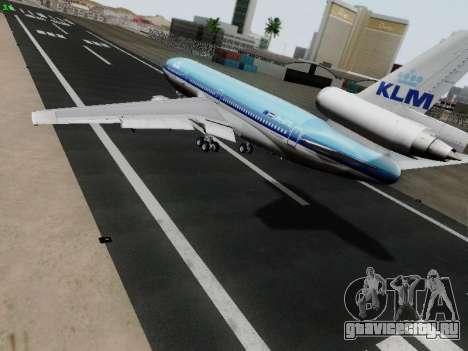 McDonell Douglas DC-10-30 KLM Royal Dutch для GTA San Andreas вид сзади слева