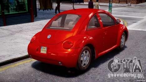Volkswagen New Beetle 2003 для GTA 4 вид изнутри