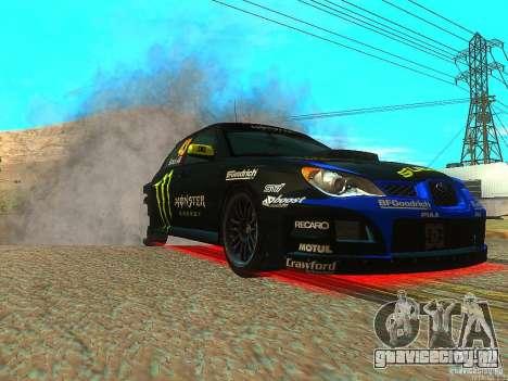 Subaru Impreza Gymkhana Practice для GTA San Andreas вид сзади