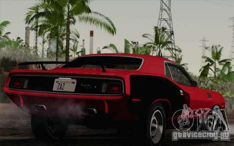 Plymouth Hemi Cuda 426 1971 для GTA San Andreas вид слева