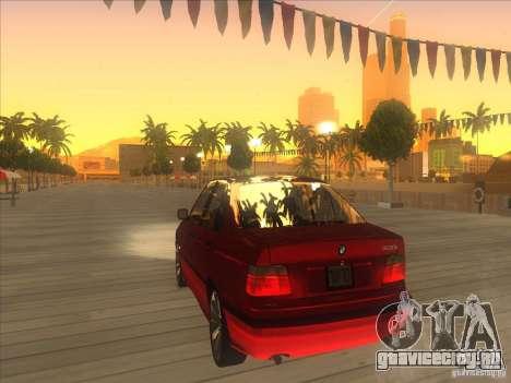 BMW E36 для GTA San Andreas вид сзади слева