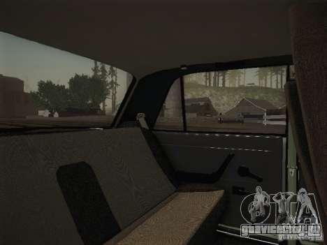 ВАЗ 2107 v2 для GTA San Andreas вид изнутри