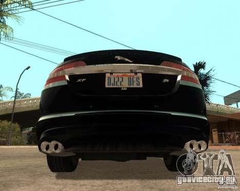 Jaguar XFR 2009 для GTA San Andreas вид сзади слева