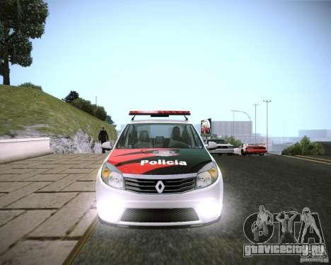 Renault Sandero Policia для GTA San Andreas