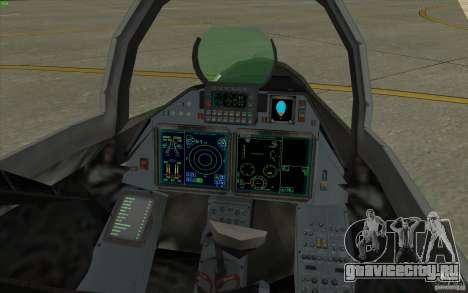 Су-35 БМ v2.0 для GTA San Andreas вид сзади