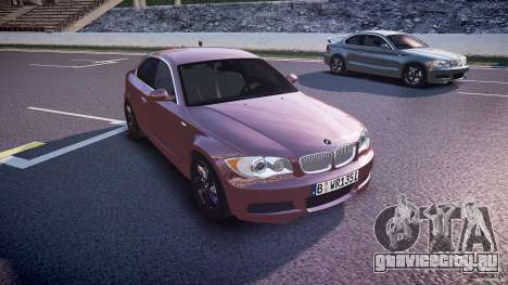 BMW 135i Coupe v1.0 2009 для GTA 4 вид сзади