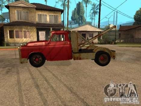 Dodge тягач ржавый для GTA San Andreas вид слева