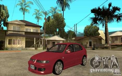 Seat Leon Cupra - Stock для GTA San Andreas