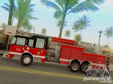 Pierce Tower Ladder 54 Chicago Fire Department для GTA San Andreas