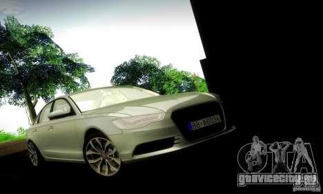 Audi A6 2012 для GTA San Andreas вид сзади слева