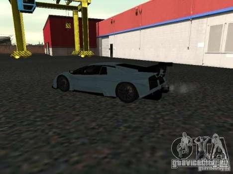 Lamborghini Murcielago R-GT для GTA San Andreas вид сзади