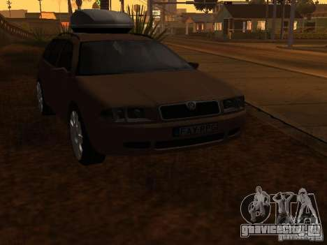 Skoda Octavia для GTA San Andreas вид сверху