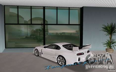 Toyota Supra Chargespeed для GTA Vice City вид слева