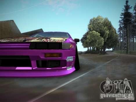 Nissan Silvia S13 Team Burst для GTA San Andreas вид сзади