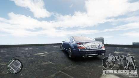 Mercedes-Benz S65 AMG для GTA 4 вид сзади слева