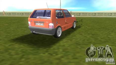Fiat Uno для GTA Vice City вид справа