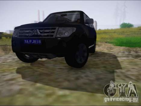 Mitsubishi Pajero 2012 для GTA San Andreas вид слева