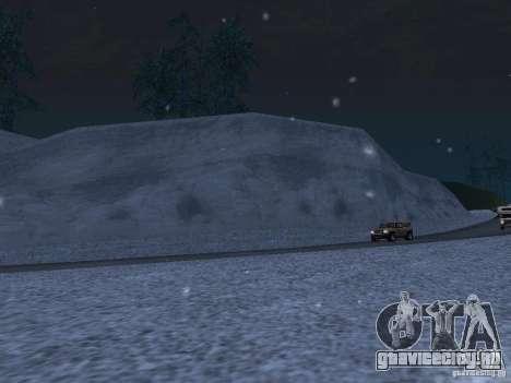 Снег для GTA San Andreas седьмой скриншот