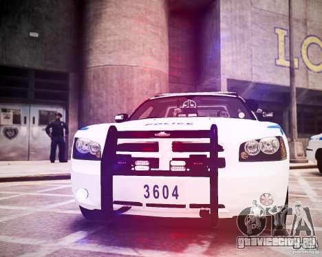 Dodge Charger 2010 NYPD ELS для GTA 4 вид сбоку