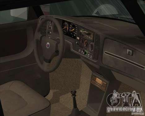 Saab 900 Turbo 1989 v.1.2 для GTA San Andreas салон