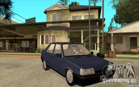 Renault 9 Mod 92 TXE для GTA San Andreas вид сзади