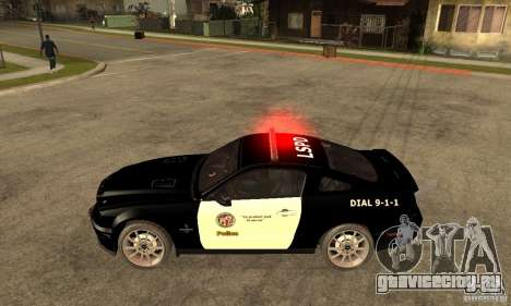 Shelby GT500KR Edition POLICE для GTA San Andreas вид слева