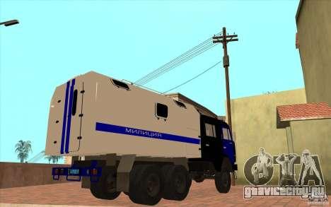 КамАЗ Милиция для GTA San Andreas вид сзади