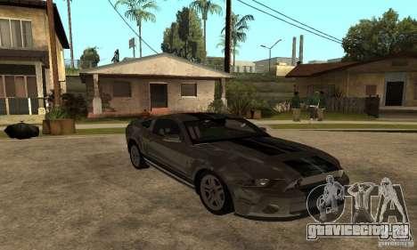 Ford Mustang Shelby 2010 для GTA San Andreas вид справа
