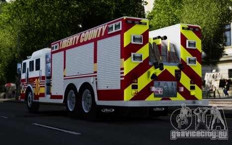 Pierce Heavy Rescue Pumper V1.4 для GTA 4 вид сзади слева