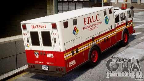 LCFD Hazmat Truck v1.3 для GTA 4 вид справа