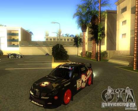 Subaru Impreza Colin McRae для GTA San Andreas вид слева
