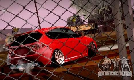 Subaru Impreza WRX Camber для GTA San Andreas вид сзади