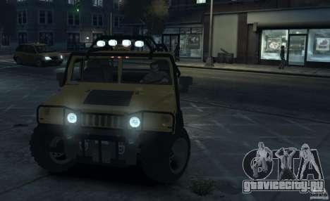 Hummer H1 4x4 Extras для GTA 4 вид слева