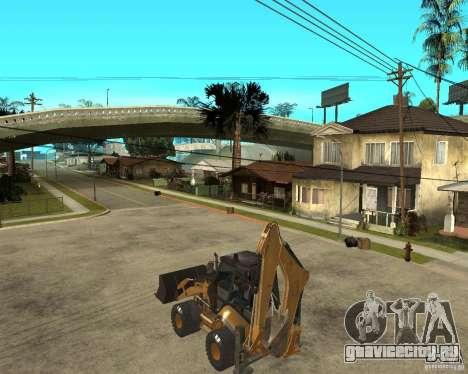 Lastik Tekerli Dozer для GTA San Andreas вид слева