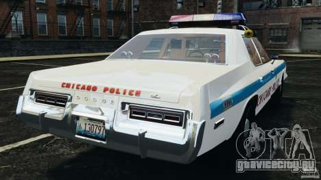 Dodge Monaco 1974 Police v1.0 [ELS] для GTA 4 вид сзади слева