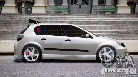 Opel Astra 1.9 TDI 2007 для GTA 4 вид сбоку