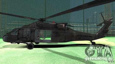 Sikorsky UH-60 Black Hawk для GTA 4 вид сзади слева