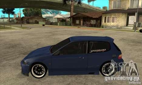 Honda Civic EG6 для GTA San Andreas вид слева