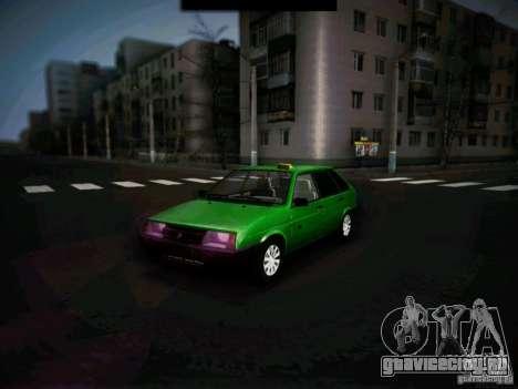 Ваз 2109 Коротко-крылое Такси для GTA San Andreas