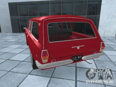 ГАЗ 24-12 v.2 для GTA San Andreas вид сзади слева