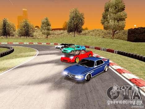 BMW 30 CSL Drift для GTA San Andreas вид изнутри