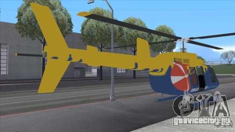 GTA IV News Maverick для GTA San Andreas вид сзади слева