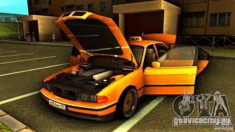 BMW 730i Taxi для GTA San Andreas вид сбоку