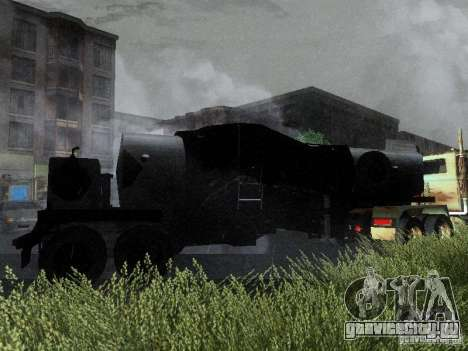 Прицеп к Armored Mack Titan Fuel Truck для GTA San Andreas вид сзади