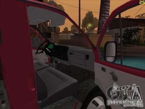 ГАЗель 33021 для GTA San Andreas вид сзади