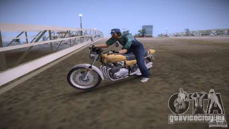 Kawasaki Z1 1975 для GTA Vice City вид слева